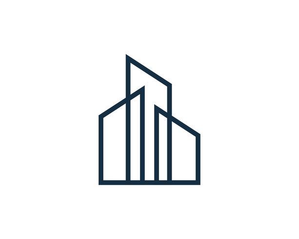 Real Estate Building Logo Icon Vector Download Free Vector Art