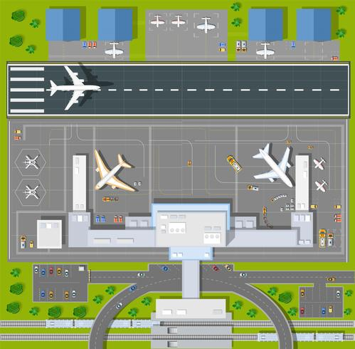 Overhead   point of view airport vector