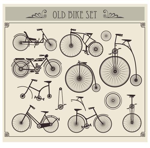 Oude fietsen vector