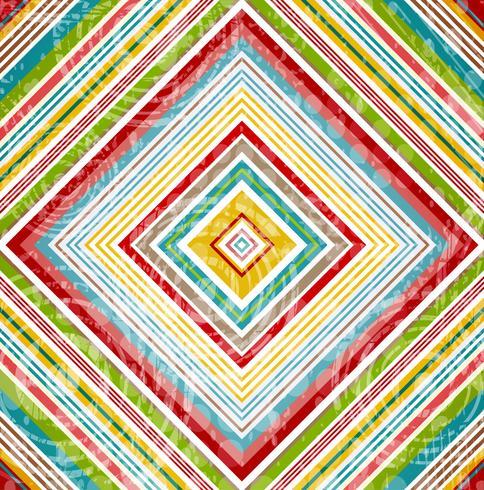 Tartan Abstraction Géométrique Rouge