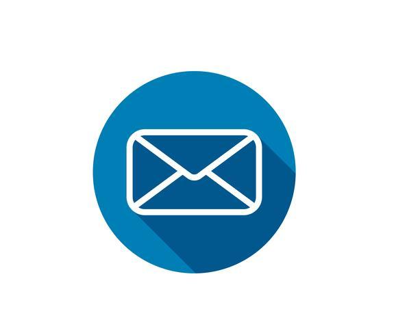 Illustrazione di vettore dell'icona della posta della busta