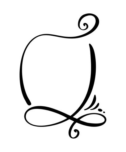 Desenho de caligrafia citar o ícone de bolha do discurso. Modelo de quadro ou caixa de texto desenhada de mão. Ilustração vetorial Balão de pensamento. Lugar para citação ou citação, balão para idéia, para o fórum, bate-papo, comentário