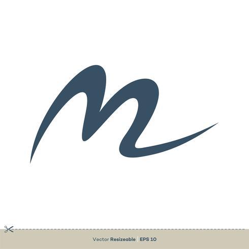 Modello di logo di vettore di lettera M.