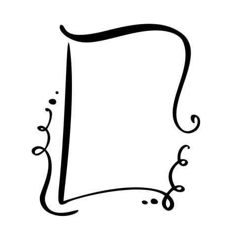 Desenho de caligrafia citar o ícone de bolha do discurso. Mão desenhada vintage frame ou caixa modelo. Ilustração vetorial com espaço para o seu texto vetor