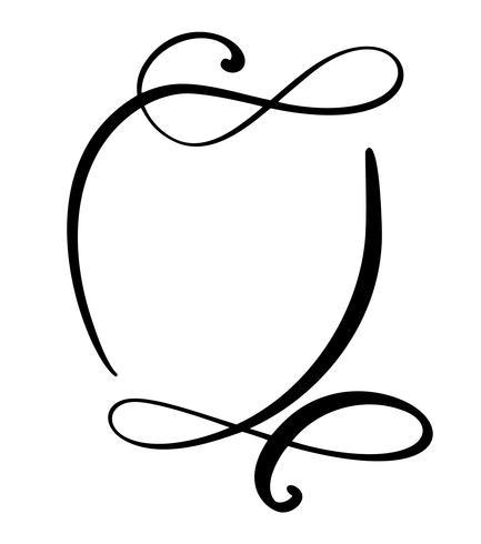 Calligraphie ronde Icône de bulle de discours de citation. Modèle de cadre ou de boîte de texte dessiné à la main. Illustration vectorielle Bulle de pensée. Lieu de citation ou de référence, Balloon for Idea, Forum, Chat, Commentaire