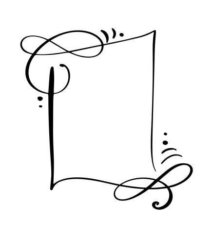 Kalligrafie cartoon Offerte zeepbel pictogram. Hand getrokken tekstkader of doossjabloon. Vector illustratie. Gedachte bubbel. Plaats voor citaat of citaat, ballon voor idee, voor forum, chat, commentaar