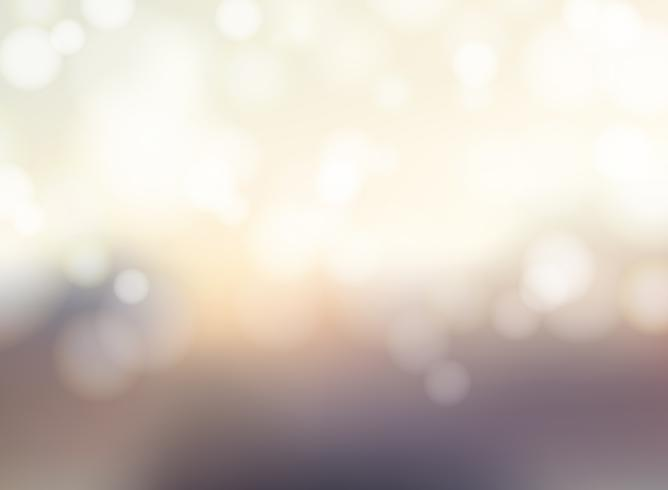 Abstract blurred background with bokeh sparkling lights. vector