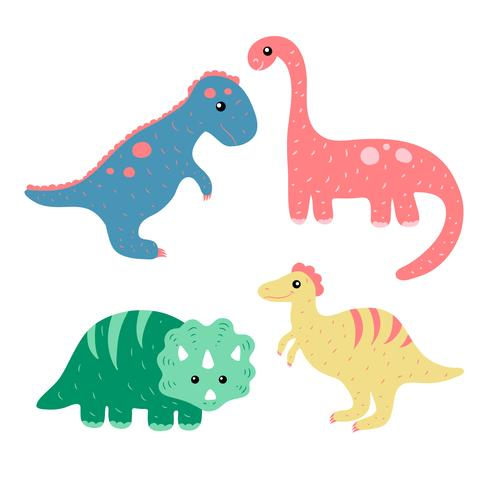 Dinosaurs Collection Set Vector