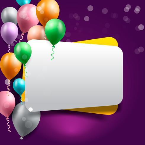 birthday celebration background, birthday balloon wallpaper vector
