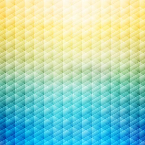 Abstracte zomer tropische blauwe en gele achtergrond. Geometrisch patroon. vector