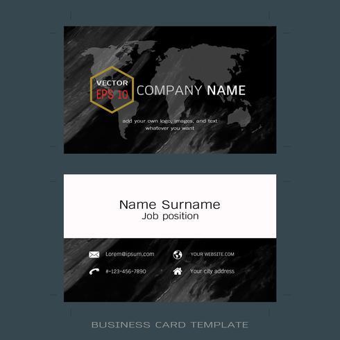 Modern designer business card layout templates. vector