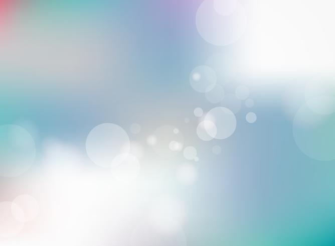 Astratto sfondo sfocato sfumato blu con sfondo bokeh. vettore
