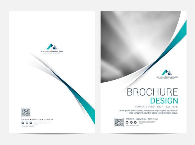 Broschüre Layoutvorlage, Flyer Cover Design Hintergrund