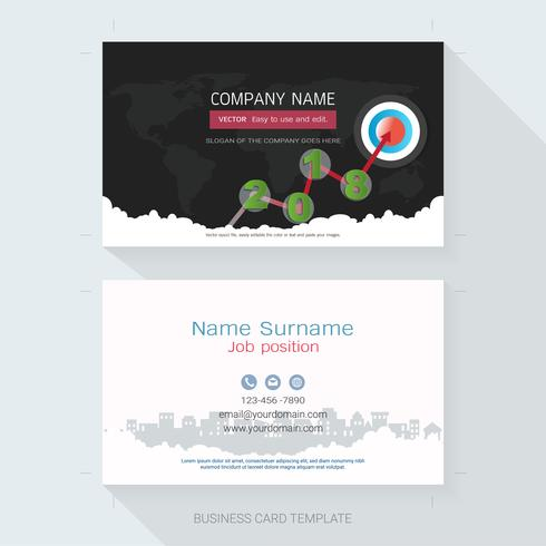 Plantilla de diseño de tarjeta de visita. vector