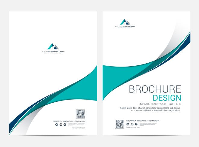 Plantilla de diseño de folleto, diseño de portada de folleto folleto fondo