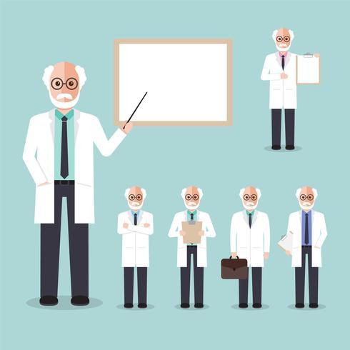 Profesor científico vector