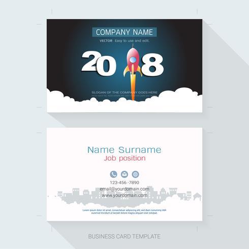 Business card design template. vector