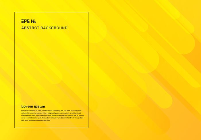 Abstracte gele geometrische achtergrond en dynamische vloeiende beweging vormen samenstelling.