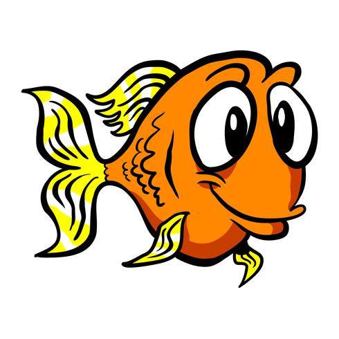 Goudvis cartoon vector pictogram
