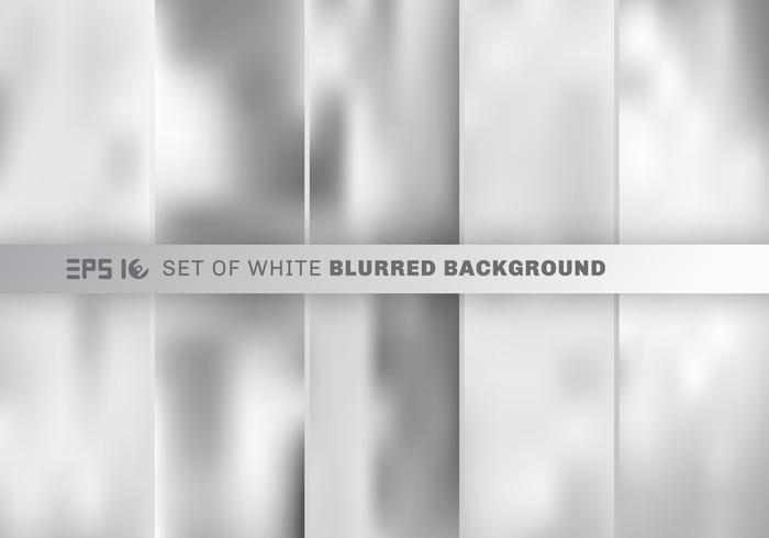 Sats av abstrakt vit och grå suddig bakgrund.