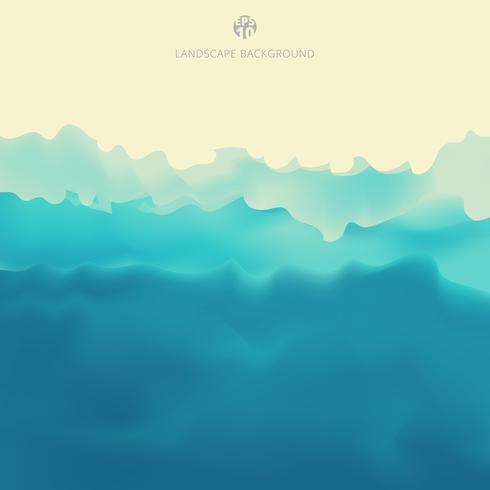Achtergrond van de de menings de blauwe kleur van de aardlandschap. vector