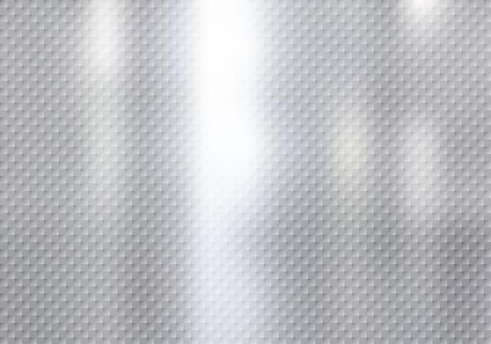 Struttura astratta del modello dei quadrati su fondo d'argento.