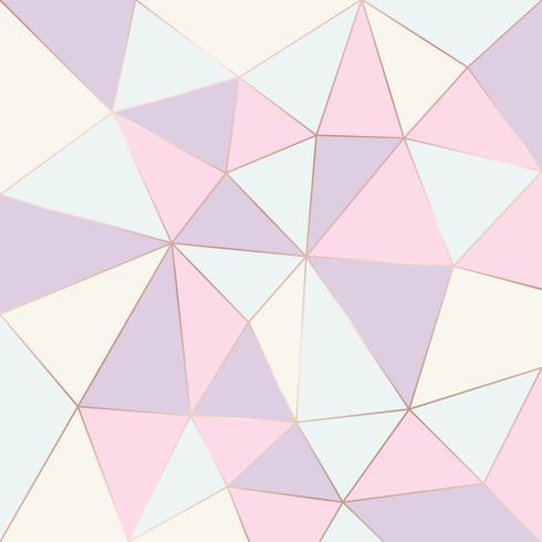 Couleur pastel motif géométrique abstrait. Triangles de relief vector background.