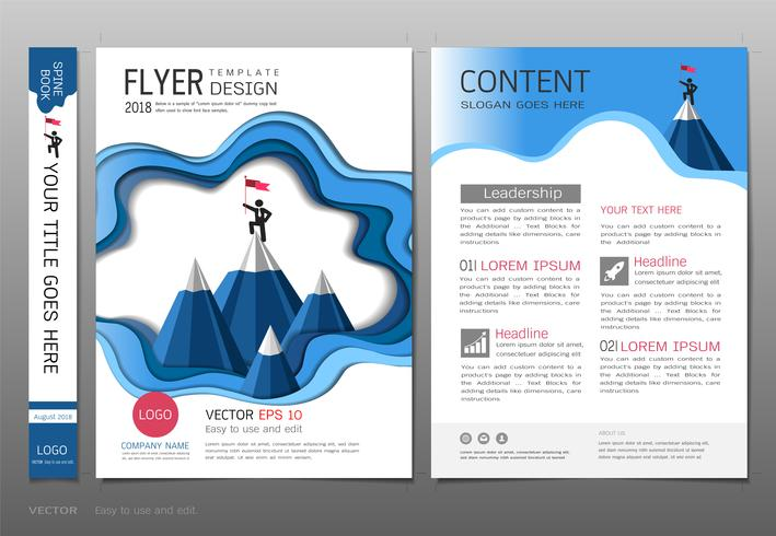 Covers book design template vector, Leadership success concept.