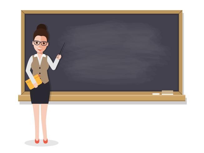 Insegnante senior che insegna in aula.