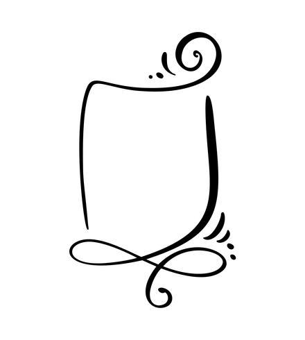 Icono de la burbuja del discurso de la historieta de la caligrafía. Dibujado a mano plantilla marco o caja vintage. Ilustración vectorial con espacio para su texto