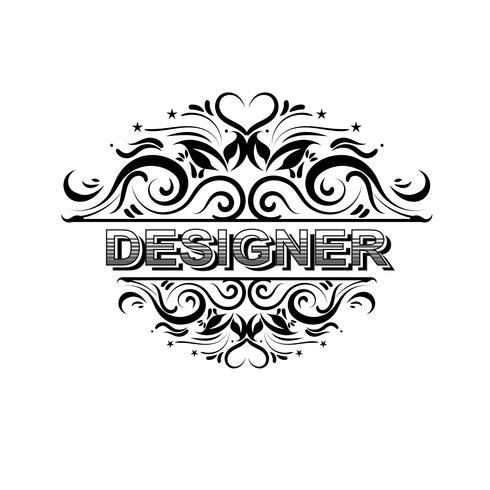 Progettazione d'annata di vettore dei distintivi del progettista