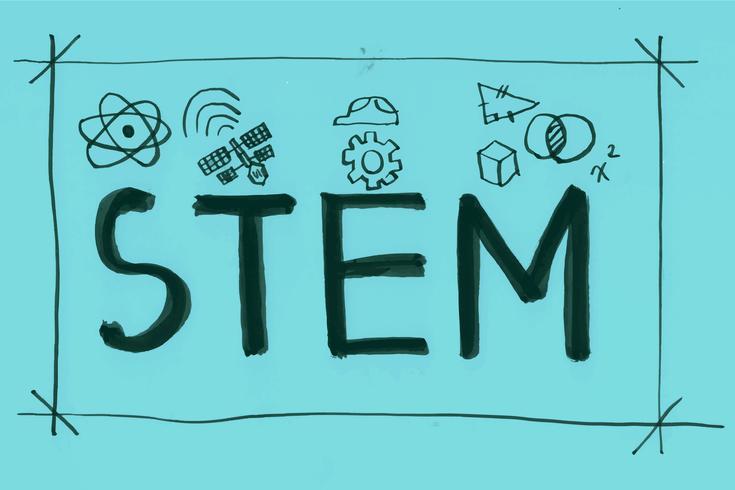 Illustratie van STAM-woordbanner vector