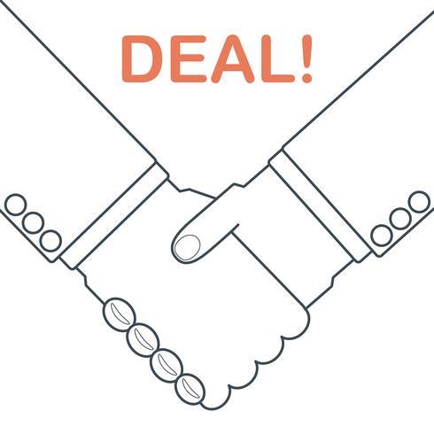 handdruk deal vector