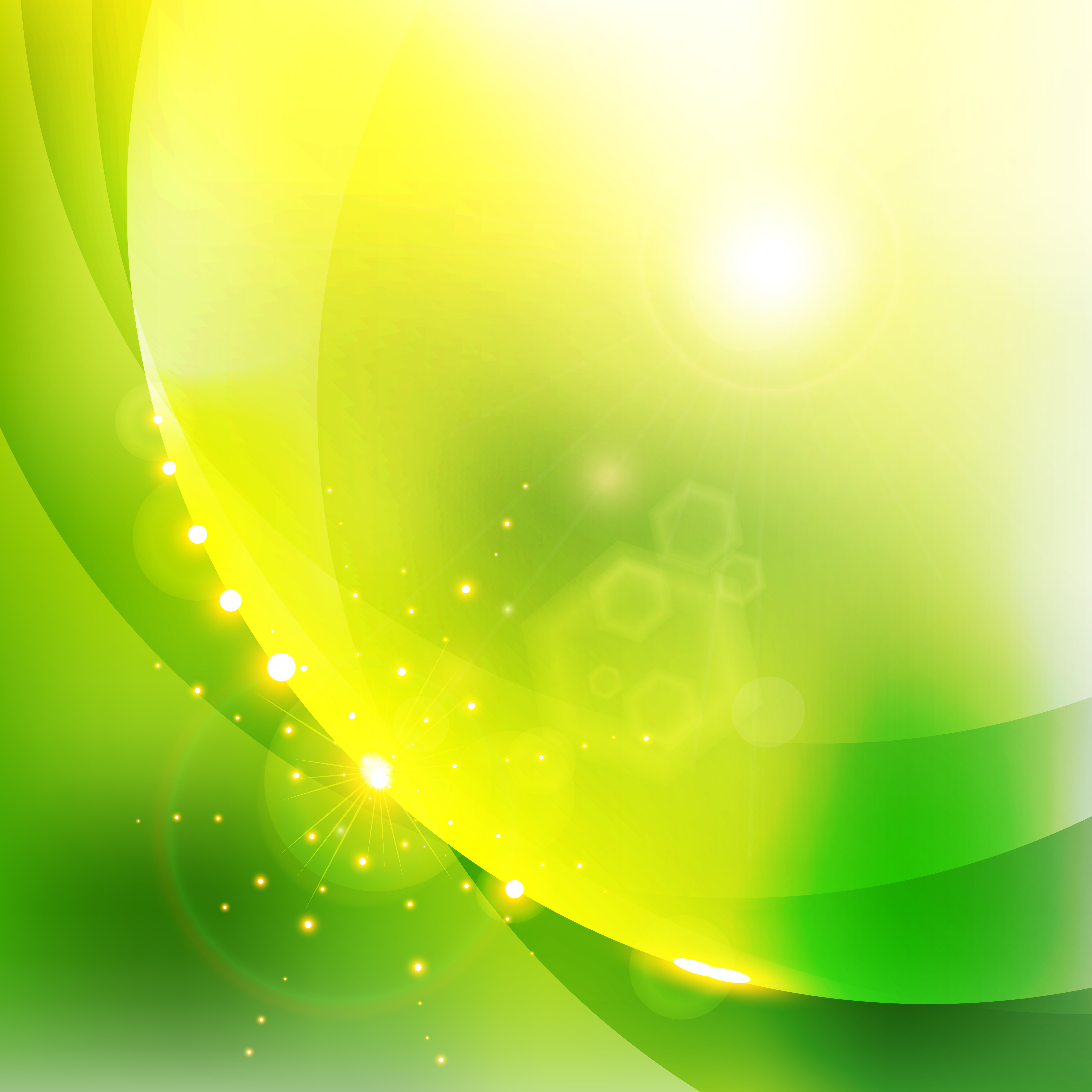 Abstract Shining Nature Green Color Background.