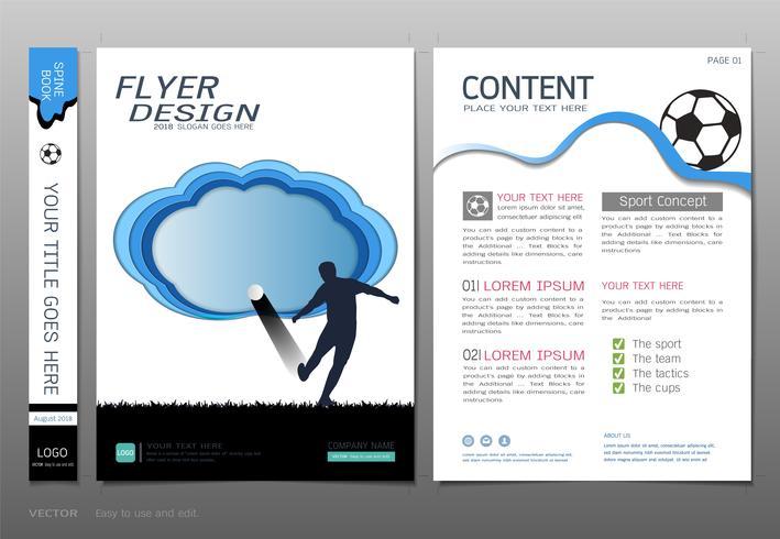 Covers book design template vector, Sport  football club concept.
