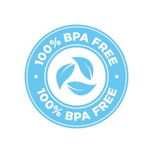 Icono libre de BPA 100%. vector