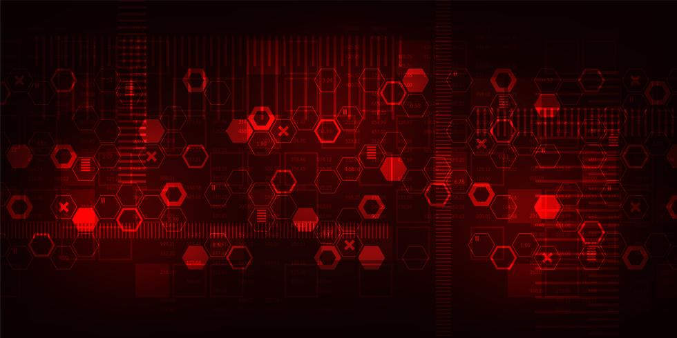 Tecnologia di sfondo vettoriale nel concetto di digitale.