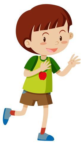 Kleiner Junge mit glücklichem Gesicht