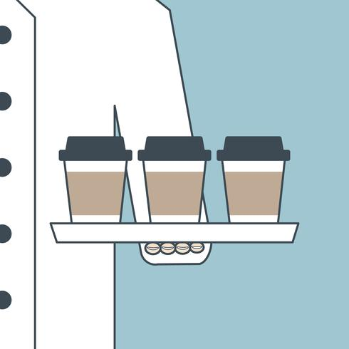 Chef serve coffee