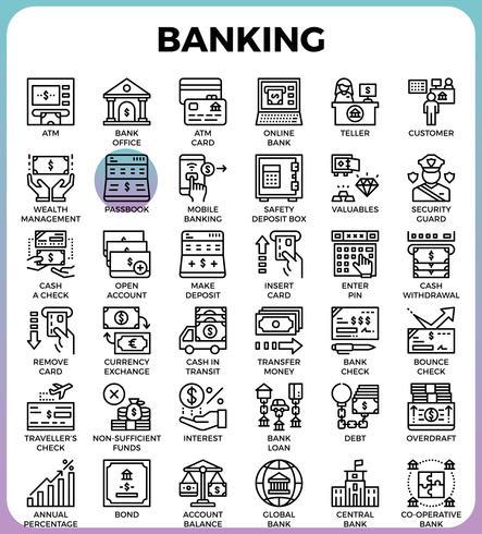 Bank koncept ikoner