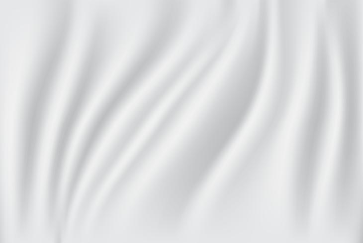 Abstracte stoffenachtergrond. Witte en grijze zijdestof en golfachtergrond. kopie ruimte