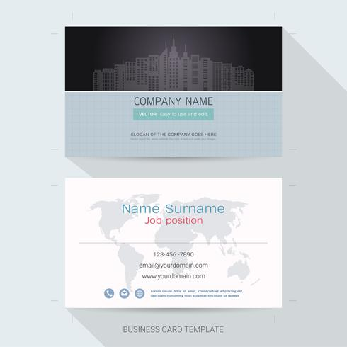 Business card design template. vector