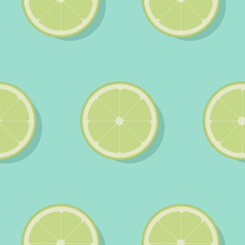 Lime seamless pattern flat design. Lemon on blue background. Vector Illustration.