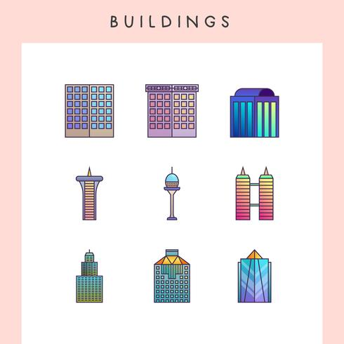 Icônes du bâtiment