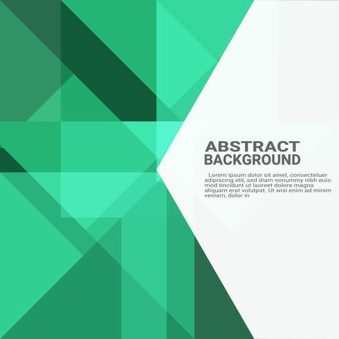 Fondo geométrico abstracto. Innovación informática de alta tecnología en el fondo verde ecológico. Ilustración de vector eps10.