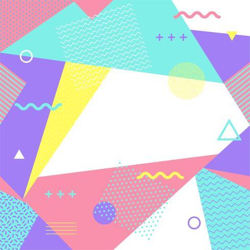 Modèle sans couture de Memphis coloré. Motif géométrique sans soudure de différentes formes à la mode des années 80-90. Illustration vectorielle