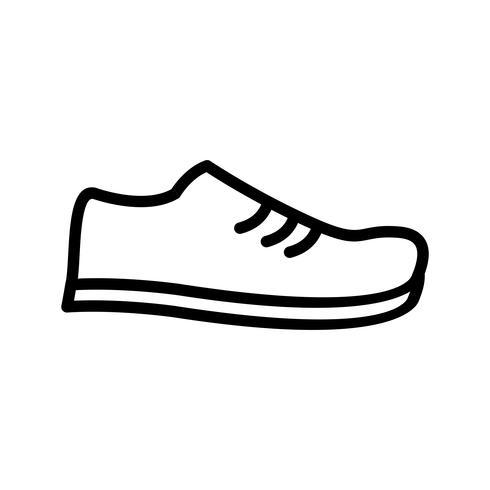 Icono de línea de zapato negro vector