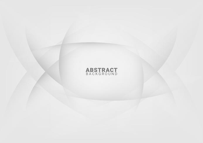 Fondo blanco abstracto con líneas suaves vector