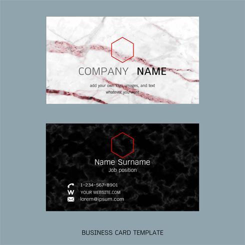 Modern designer business card layout templates.
