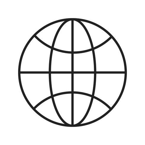 Navegador Line Black Icon